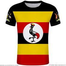 UGANDA t gömlek diy ücretsiz custom made adı numarası uga T Shirt ulusal bayrak ug ugandan ülke kolej fotoğraf logo baskı metin giysi