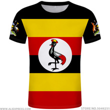 UGANDA t hemd diy freies nach maß name anzahl uga T Shirt nation flagge ug ugandische land college foto logo druck text kleidung