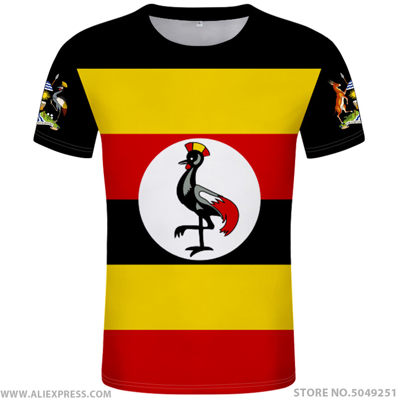 UGANDA t shirt diy free custom made name number <font><b>uga</b></font> T-Shirt nation flag ug ugandan country college photo logo print text clothes image