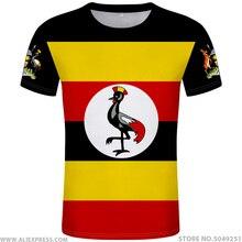 ウガンダ tシャツ diy 無料カスタムメイド名番号 uga Tシャツ国民旗 ug ugandan 国大学写真のロゴプリントテキスト服