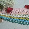 Кружева из чистого хлопка с вышивкой, искусственная Цветовая ширина 9 см