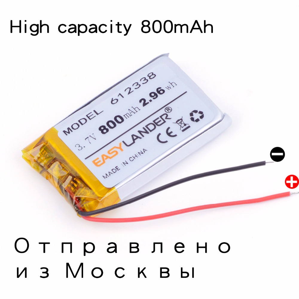 3.7V 800mAh 612338 li Polymer battery smart home MP3 speakers for dvr GPS mp4 cell phone speak toys LJ 652338 AdvoCam-FD7 Profi polymer battery 1000 mah 3 7 v 504045 smart home mp3 speakers li ion battery for dvr gps mp3 mp4 cell phone speaker