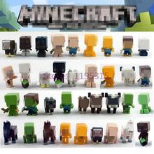 36pcs/lot Minecraft More Characters Hanger Action Figure Toys Cute 3D Models Games Collection Classic Toys #E