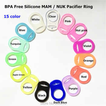 (13 color) 500pcs/lot BPA Free Food Grade Silicone Baby Pacifier Adapter Chain Holder Rings Dummy MAM rings for Napkin NUK - DISCOUNT ITEM  15% OFF All Category