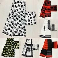 Hot sale Gahna Style satin silk fabric with organza ribbon African wax hollandais design ! J52602