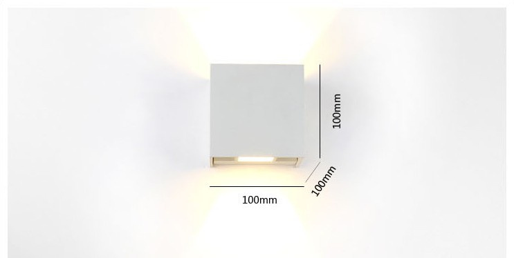 Aliexpress Buy LED Wall Lamps Outdoor Sconce 6W Waterproof Modern Led Light Warm White 2pcs COB Chips Mounted Lamp From Reliable