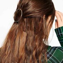 2018 Fashion Jewelry Simple Joker Bohemian Word Clip Geometric Circle Clip Hair Accessories Women Elegant Hair Clip