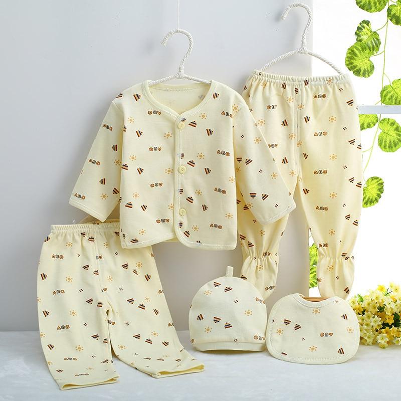 5pcs Set Newborn Baby 0 3m Clothing Set Cheap Baby Boy