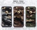 2 Em 1 Padrão de Camuflagem Do Exército Do Camo Capa Dura Plástico Macio Tpu armadura tampa traseira para iphone 5s se 6 s 6 mais casos móvel telefone