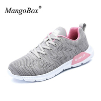 KERZER 2017 New Arrival Running Shoes Ladies Mesh Jogging Sneakers Spring Summer Female Sports Shoes Gray