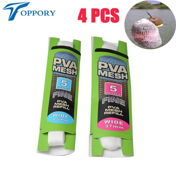Topproy 4 paquetes / lote Malla de PVA de 5 M 25 mm 37 mm para carpas - Pescando - foto 1