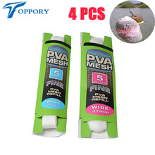 Topproy 4 packs/lot 5M PVA mesh 25mm 37 mm for carp fishing bait bolies feeding water soluable dissovling bags Rigs accessories