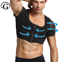 PRAYGER New Power Gynecomastia Shapers Invisible Mesh Shirt Control Chest Tops Slimming Tummy Trimmer Undershirt Body Shaper