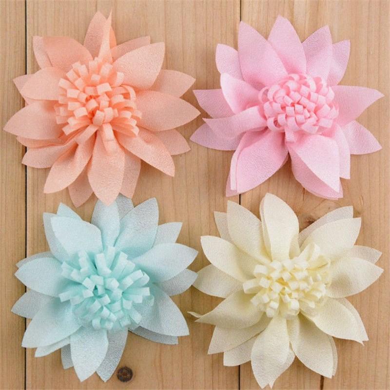 20pcs/lot 14 Color U Pick 2.8 Inch Artificial Boutique Chiffon Fabric Flowers DIY Craft Supply Wedding Hair Accessories MH15 u pick u 100