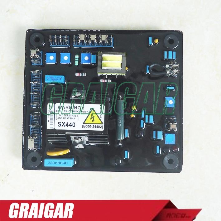 5pcs/lot Generator AVR SX440 Voltage Regulator sx440 avr for stamfod alternator sx440 generator avr sx440 voltage regulator