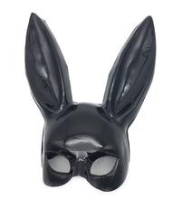 цена на 1pc Halloween Laides Bunny Mask Party Bar Nightclub Costume Rabbit Ears Mask
