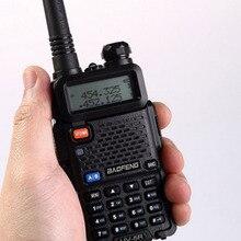 Baofeng UV 5R chasse 10km Mini jambon CB Radio longue portée talkie walkie professionnel pour Interphones Baofeng Wakie HF émetteur récepteur