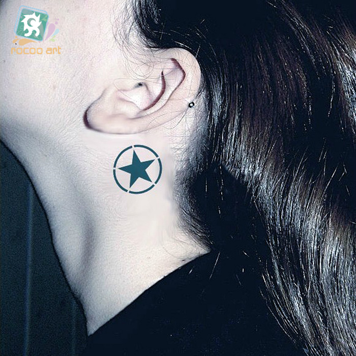 Hc 74 waterproof temporary tattoo stickers men and women for Fake neck tattoo