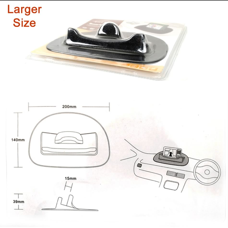 Car Desk Dashboard Anti-Slip Silicone Mat Pad Smart Stand Mount Holder for PSP GPS Mobile Phone PDA GPS Tablet iPhone