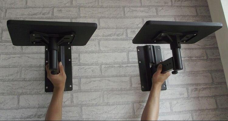 1Pair Full Motion Speaker Bracket Mount Heavy Duty Flexible Tilting Rotation Speaker Holder With Tray Projector Holder