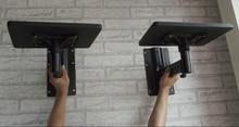 1 Par Full Motion Speaker Bracket Mount Heavy Duty Flexível Inclinação Rotação Titular Falante Com Bandeja Suporte de Projetor