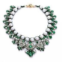 N00720 Deux Couleurs Choisir Rouge et Vert Acrylique Pierre Perles 2014 Femmes Déclaration Colliers Dans Bijoux