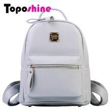 Toposhine новый простой стиль Твердые Сумка женщины рюкзак искусственная кожа женские сумки девушки рюкзак школы моды женские рюкзаки 1701