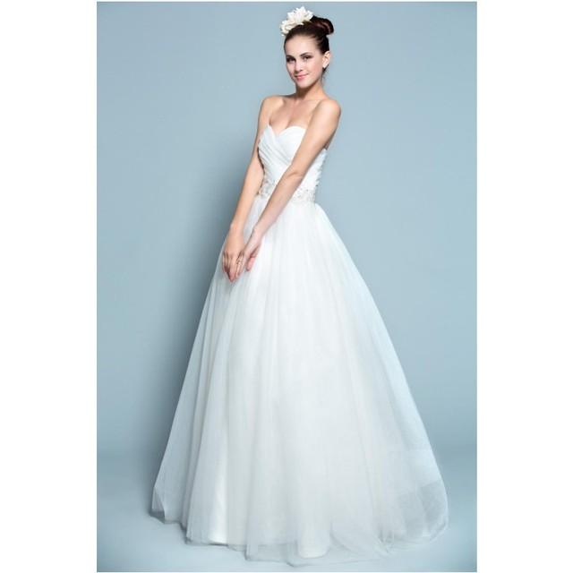 Simple Elegant Ball Gown Wedding Dress Princess Style Sweetheart ...