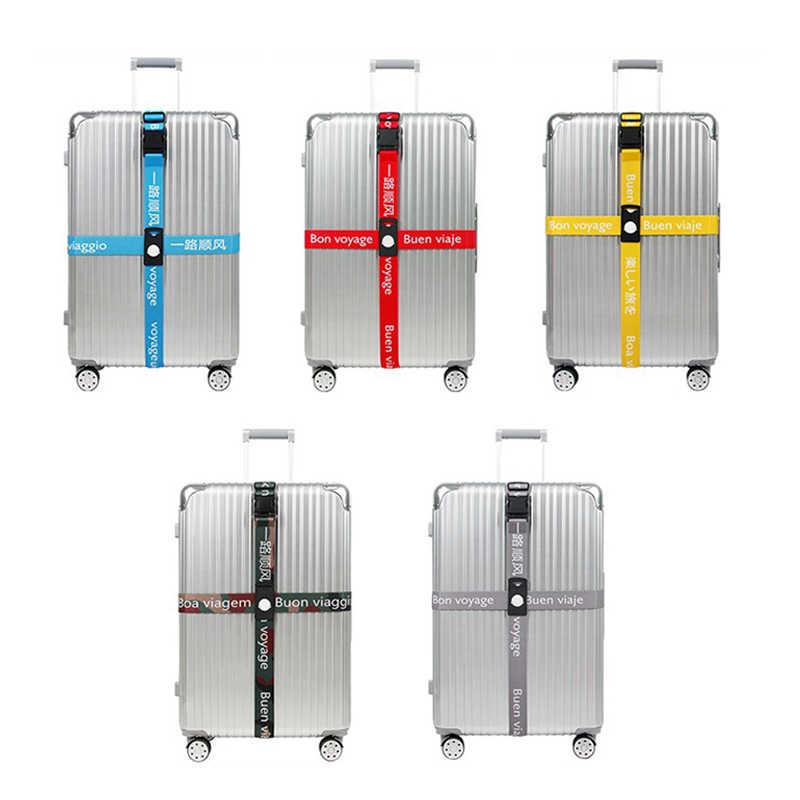 กระเป๋าเดินทาง band 3 หลักรหัสผ่านความยืดหยุ่นสายรัดกระเป๋าเดินทางข้ามสายพานปรับอุปกรณ์เสริมกระเป๋าเดินทาง QUICK RELEASE
