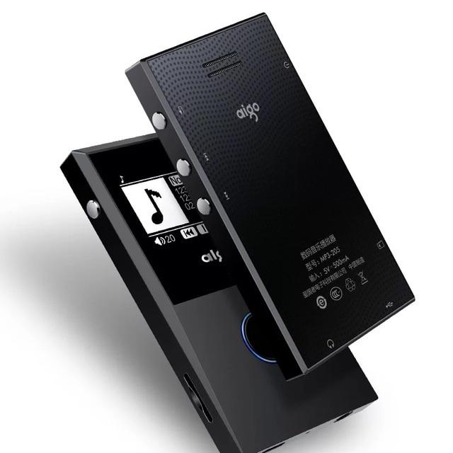 Aigo 205 HiFI MP3 Speler bluetooth FM Radio Recording E Book Draagbare OTG Loseless Muziekspeler Max 64GB Ondersteuning
