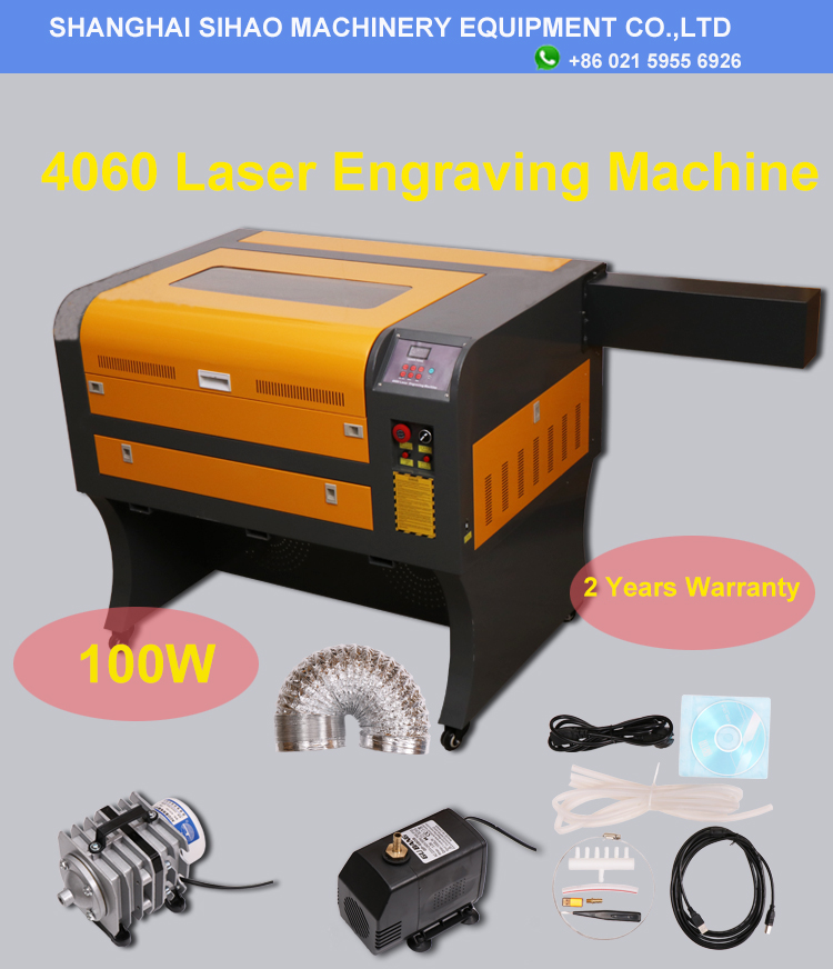 Top Selling High Quality <font><b>4060</b></font> 50w 60w 80w <font><b>100w</b></font> Laser Cutter <font><b>CO2</b></font> Laser Engraving Machine for Wood Acrylic Rubber image