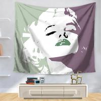 Factory Direct Supply Europe And The United States Star Monroe Tapestry Coffee Shop Decoration Wall Hanging Blanket