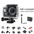 Mini Camera Sport Action Camera Car DVR Recorder 720P HD Sport DV Helmet Cam Two battery+monopod 30M Waterproof gopro style