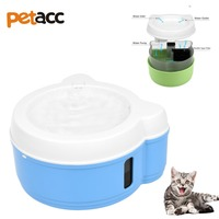 Petacc 750ml 2W USB Double layer Filter Pet Water Fountain Non toxic Dog Drinking Fountain Silent Cat Water Dispenser