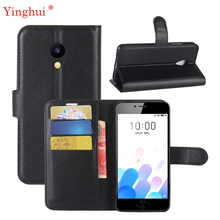 For Meizu M5C Case Hight Quality Flip Case For Meizu M5C Meizu A5 Hight Quality Leather Stand Cover 5 0 #8221 cheap YINGHUI Plain Dirt-resistant Anti-knock With Card Pocket PU+Soft TPU Book Style Stand Case With Card Holder