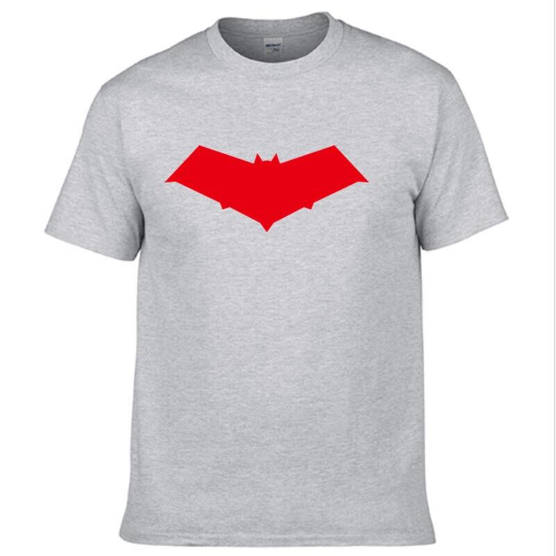 New Red Hood Symbol Batman Dc Comics Men Adult Slim Fit T Shirt Man