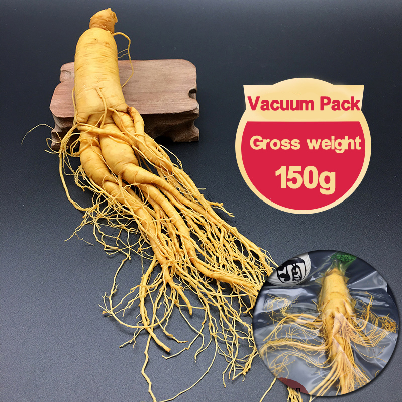Changbai Fresh Ginseng Root 150g top Grade Vacuum Pack Panax ginseng Root 8 Years Old Herbal Body Relaxation c ts021 new 100g top grade purely natural organic pueraria mirifica powder puerarin lobed kudzuvine root extract herbal tea