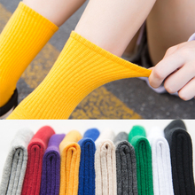 Unisex Rainbow Color Men Socks 100 Cotton Harajuku Colorful Mid Standard 1 Pair