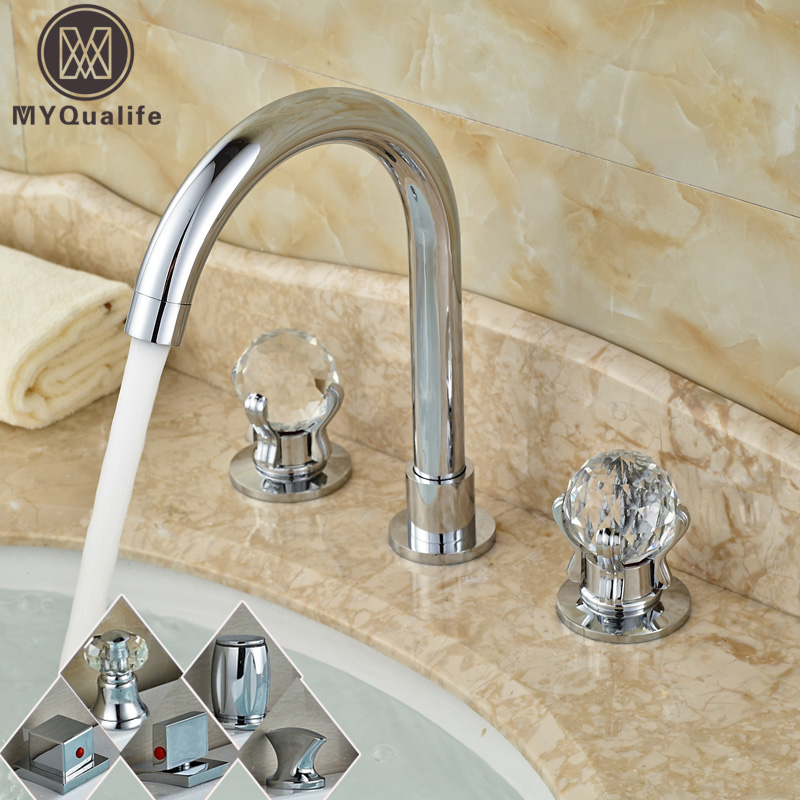 Bright Chrome Deck Mounted 3 Holes Basin Sink Faucet Bathroom Goose Neck Washing Basin Mixers with Hot and Cold Water сольфеджио i iv класс пение с листа