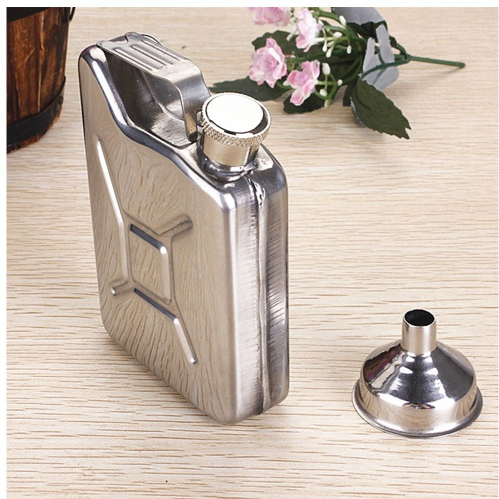 5oz Gasoline Bucket Shape Wedding Party Bar Drink Bottle Hip Flask Whisky Bottle Alcohol Drinkware with Funnel
