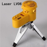 Free Shipping Decorate Line Angle Ruler Tool Measuring Equipment Lase Level Laser Lv06 With The Tripod