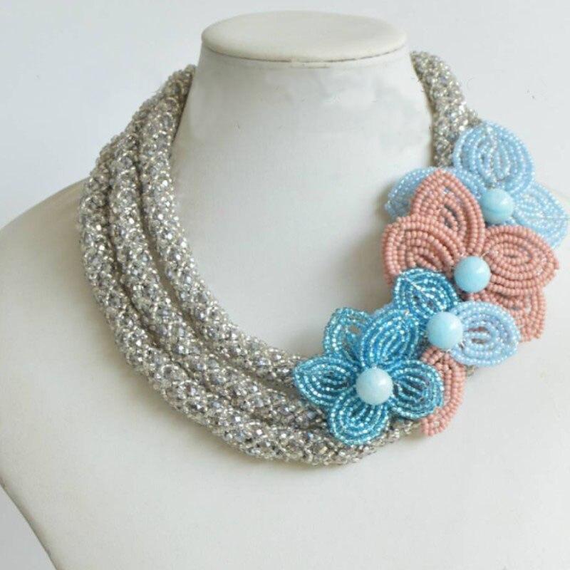 4UJewelry Nigerian Women Wedding Beads 100% Handmade Necklace & Pendant 3 Standards Wedding Engagement Jewelry Fashionable 2019