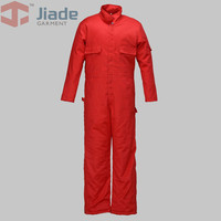Jiade Adult Flame Resistant Long Sleeve Coverall Men's Work Winter Coverall 9OZ