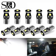 10pcs T10 W5W LED 194 168 Canbus Error Free LED Bulbs 3030 Chips Car Interior Door Reading Lights Parking Lamp 6000K Auto 12V(China)