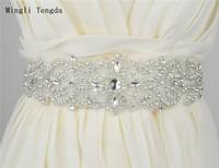 Bridesmaid Belt Women Wedding Sash Elegant Rhinestone Satin Ribbon Bridal Mariage De Married Ceinture Belts Bride Mingli Tengda