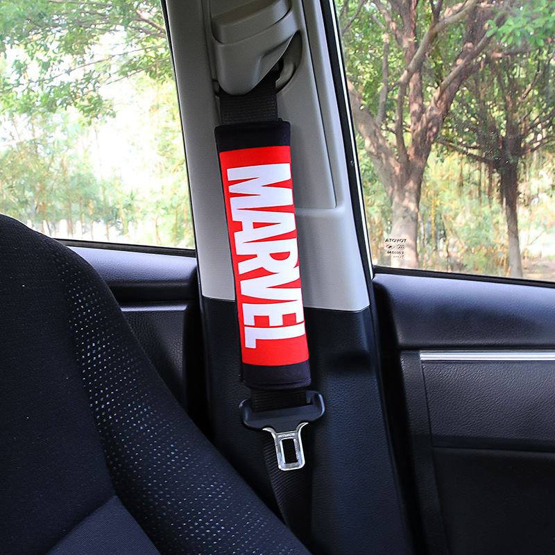 Image 5 - 1PC Marvel Cartoon Seat Belt Cover Car Shoulder Protector Universal Car Seat Belts Shoulder Pad Auto Car Seat Belt covers-in Seat Belts & Padding from Automobiles & Motorcycles