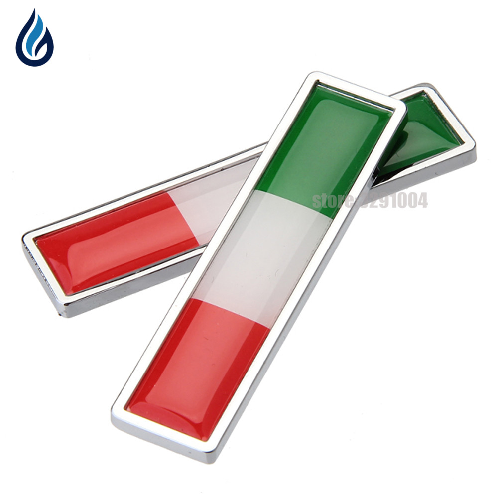 Car Decoration Decal Side Door Sticker for Italian flag logo Vw Polo golf Ford Fiesta Fiat 500 500X punto Panda Lancia Ypslion for fiat punto fiat 500 stilo panda small hole ventilate wear resistance pu leather front