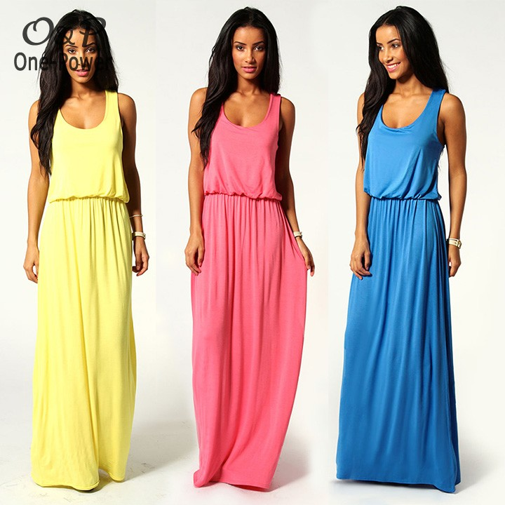 Summer Dress 2014 Women Racer Back Maxi Casual Dress Jersey Toga Women  Solid Party Dresses Sexy Long Dress 10 24-in Dresses from Women s Clothing  on ... 729f7119ca9e