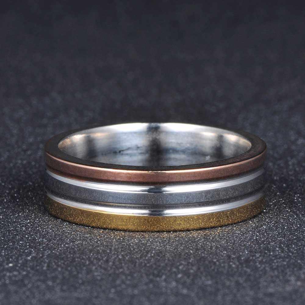 AENINE новый дизайн 3 цвета круглые кольца набор для женщин из нержавеющей стали Свадебные юбилей женские украшения для пальцев AR17150