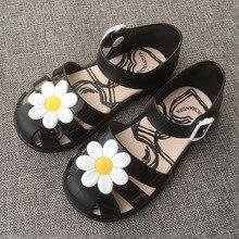 Sapatos sandálias da praia do verão crianças sandálias Meninas doce cheiro flowes geléia bonito dos desenhos animados crianças macias sandálias Zapatos à prova d' água